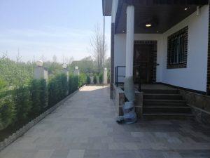 حیاط سازی ویلا کلارآباد